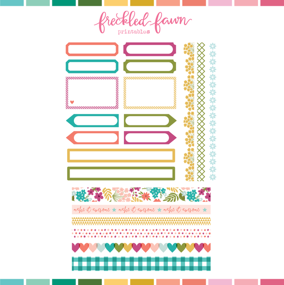 Printable Ephemera | Apr21 Washi and Labels