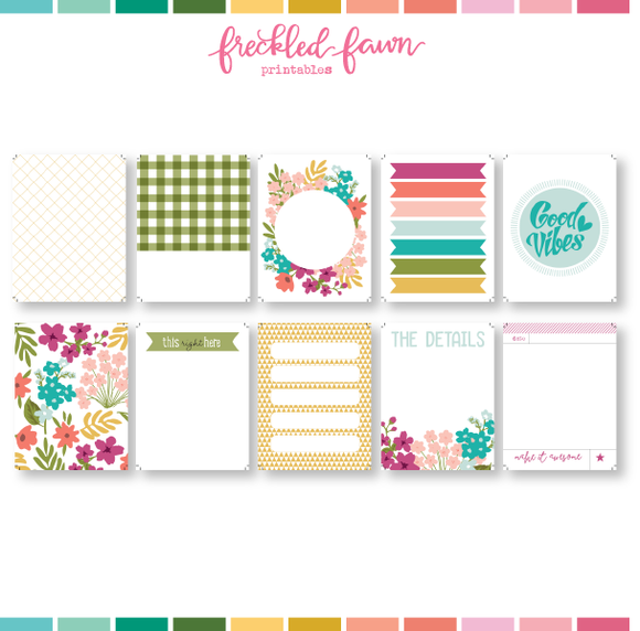 Printable 3x4 Journal Cards | April 2021