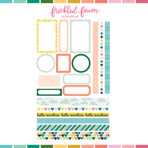 Printable Ephemera | APR20 Labels + Washi
