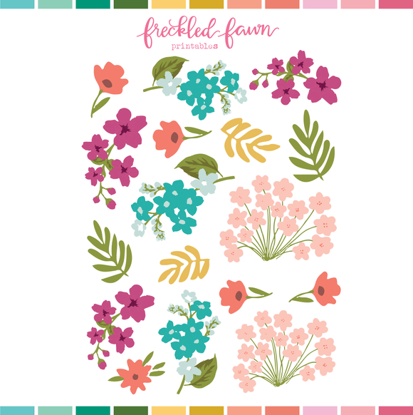 Printable Ephemera | Apr21 Florals