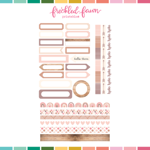 Printable Ephemera | Aug20 Labels + Washi