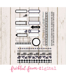 Printable Elements | December 2019 Labels + Washi