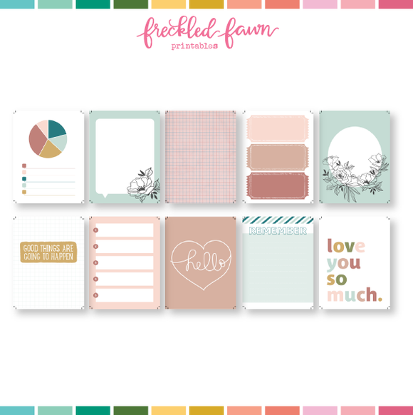 Printable 3x4 Journal Cards | February 2021
