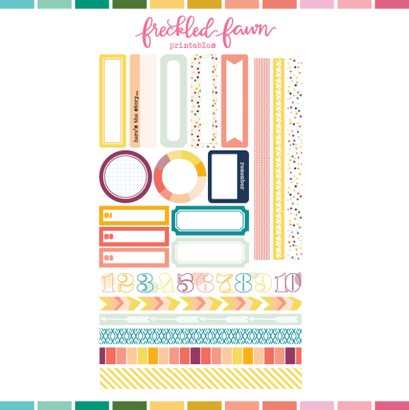 Printable Ephemera | FEB20 Labels + Washi