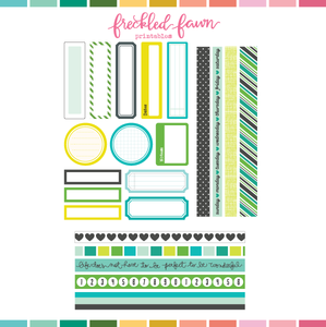 Printable Ephemera | Fresh Start Labels + Washi