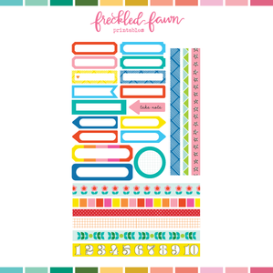 Printable Ephemera | JUL20 Labels + Washi