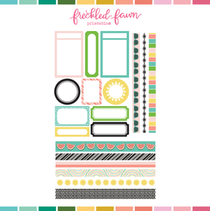 Printable Ephemera | JUN20 Labels + Washi