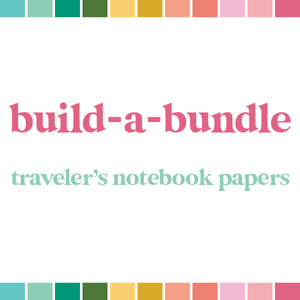 Build a Bundle | Traveler's Notebook Papers (monthly auto-ship)