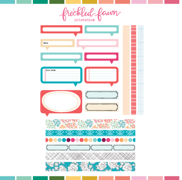 Printable Ephemera | Mar21 Washi and Labels