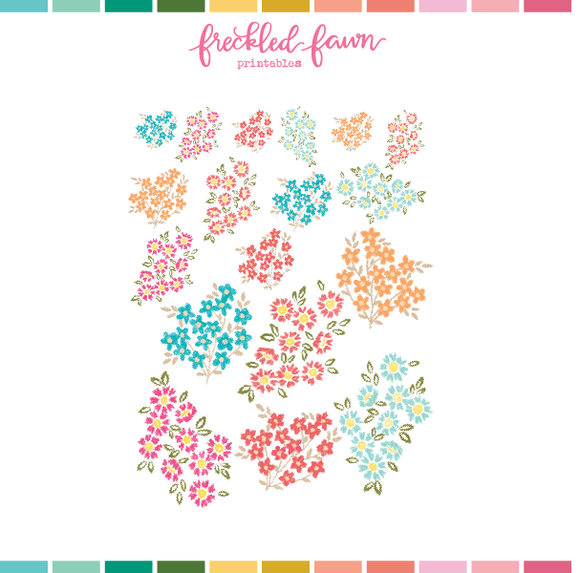 Printable Ephemera | Mar21 Florals