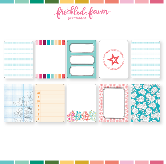Printable 3x4 Journal Cards | March 2021