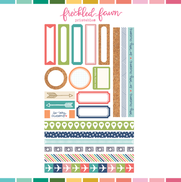 Printable Ephemera | MAR20 Labels + Washi
