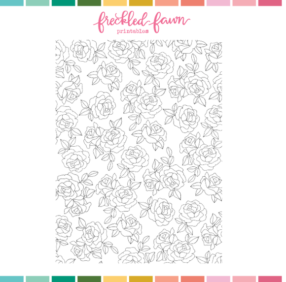 Printable Ephemera | Mar21 Roses