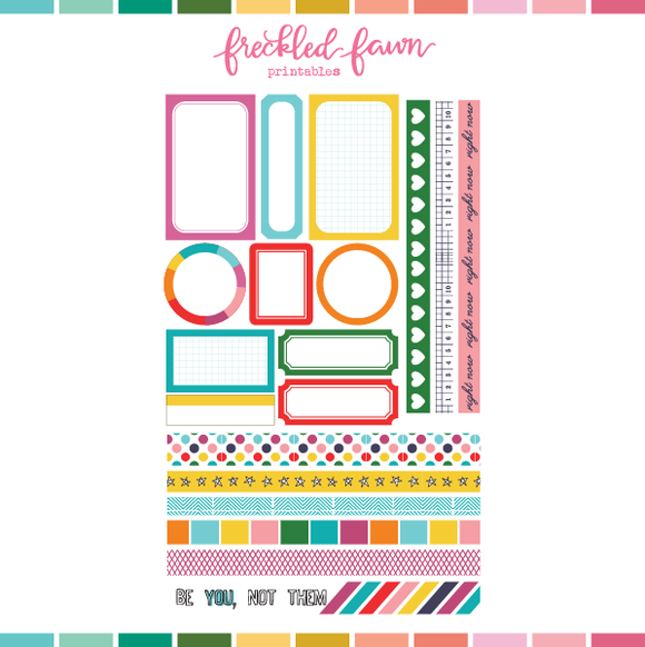 Printable Ephemera | MAY20 Labels + Washi
