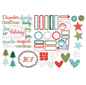 Printable Ephemera | Christmas Labels + Diecuts