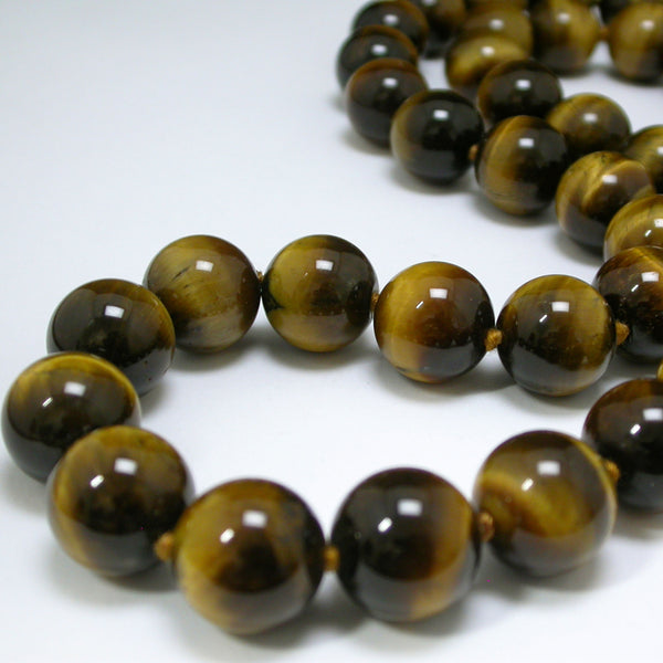 16mm Very Fine Tiger Eye Bead Necklace