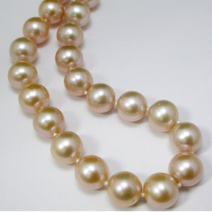 10MM Peach Freshwater Pearl Necklace