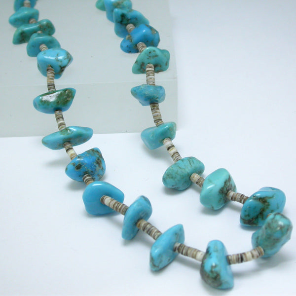 Vintage Turquoise Bean Necklace