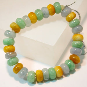 Multi-color Natural Jade Bead Bracelet