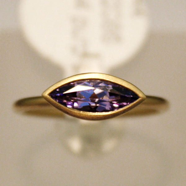 14K Yellow Gold Purple Spinel