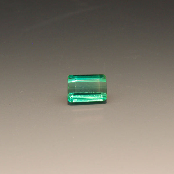 Natural Emerald Cut Blue-Green Tourmaline
