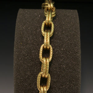 14K Yellow Gold Oval Rope Bracelet