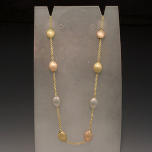 14K Tri-Color Gold Necklace