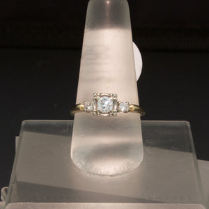 14K Yellow Gold Vintage Diamond Engagement Ring