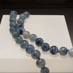 Sterling Silver Kyanite Bead Necklace