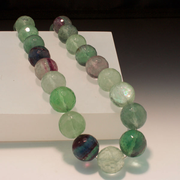 Sterling Silver Fluorite Bead Necklace