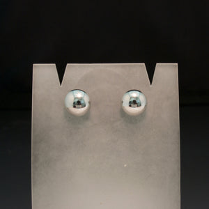 14K White and Yellow Gold Button Earrings