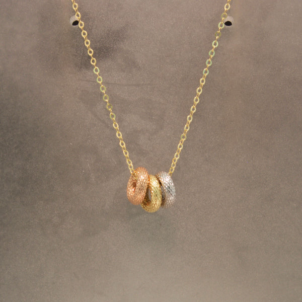 14K Tri-colored Gold Necklace