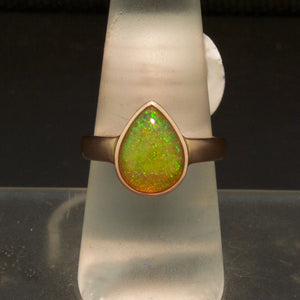 Amazing, Unique Handmade 14K Rose Gold Ethiopian Opal Ring