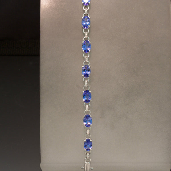 14K White Gold Tanzanite Bracelet