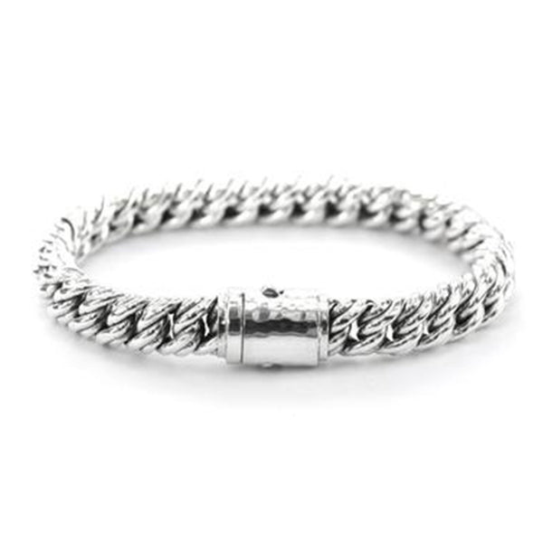 Fair trade Sterling Silver Heavy Link Chain Bracelet