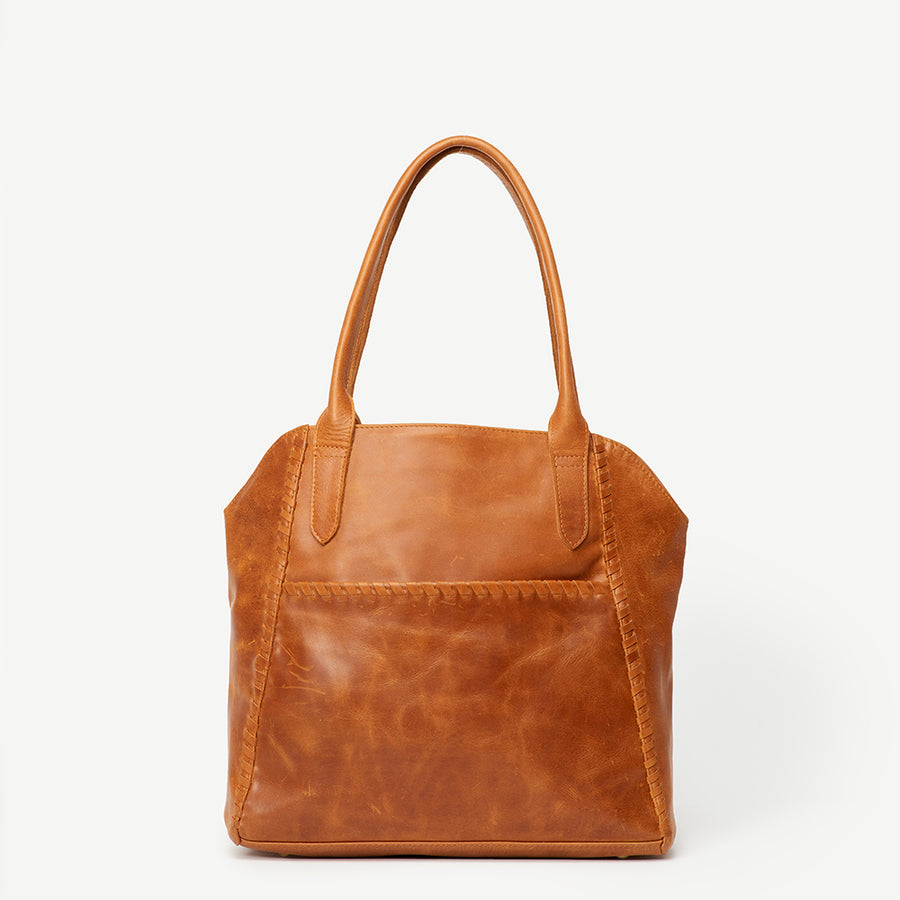 547f34470c Adhya Japanese Garden Camel Leather Tote