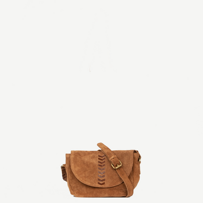 Alisha Brown Suede Crossbody
