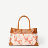 Anna Japanese Garden Leather Handbag