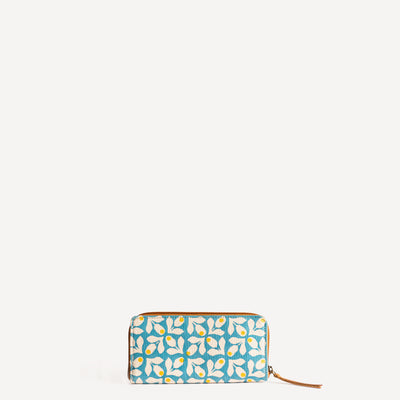 Structured wallet in Yellow Berry