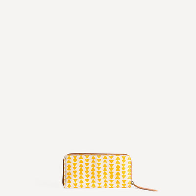 Structured wallet in Yellow Triangle