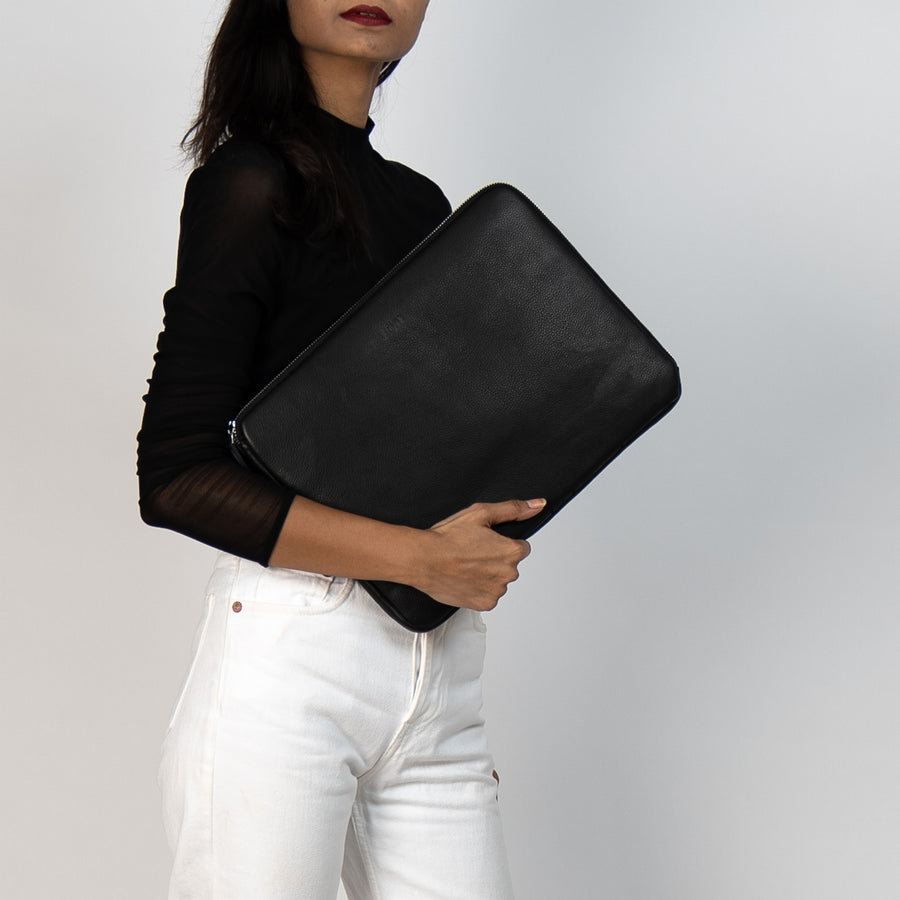 Boss Lady Black Laptop Sleeve