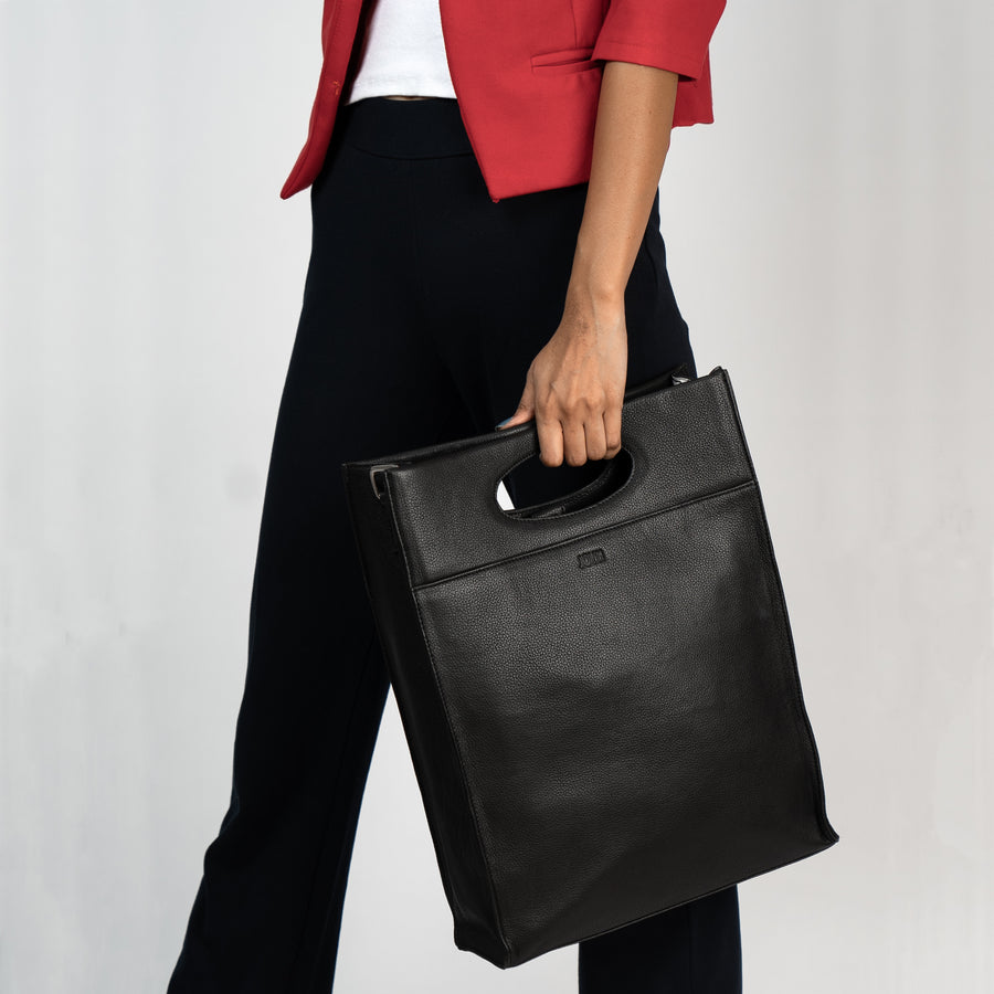 Boss Lady Black Tote