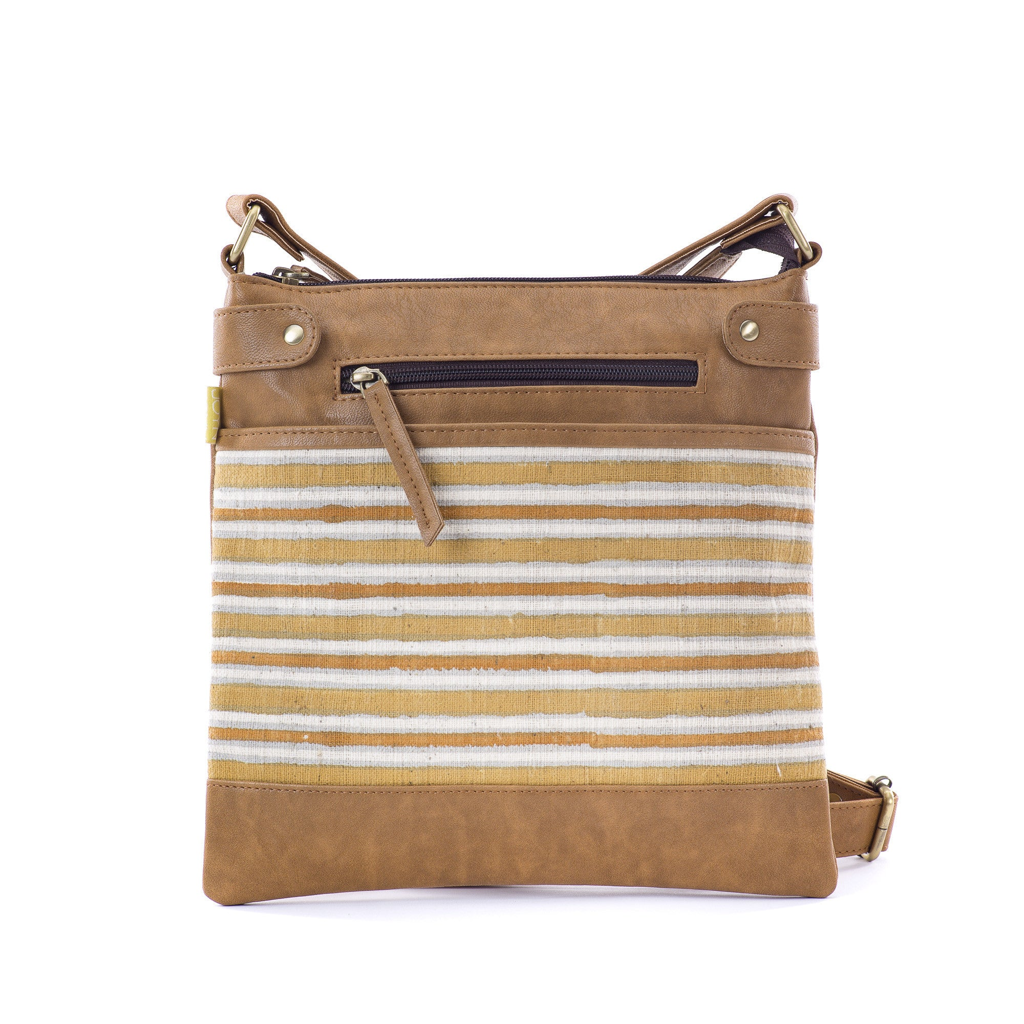 Square Satchel - Mustard Stripes