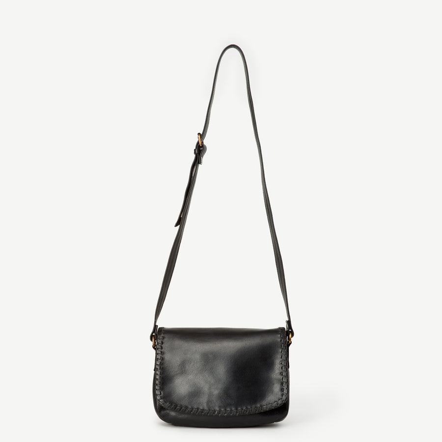 Diti Black Leather Crossbody Bag