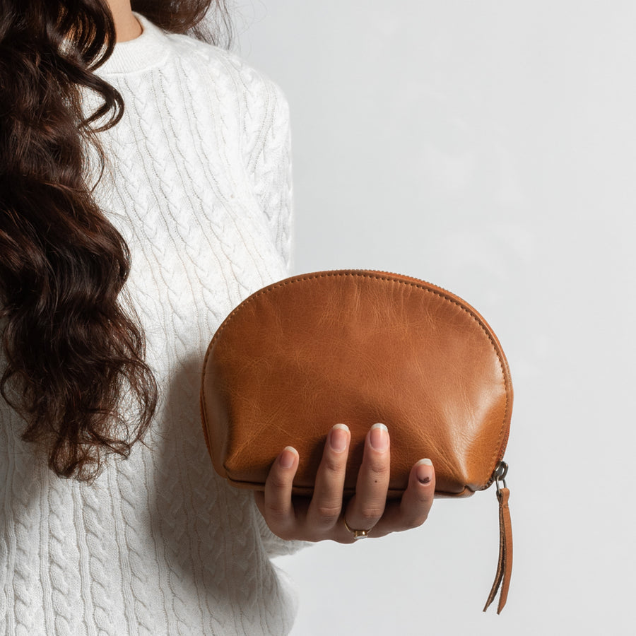 Ara Camel Leather Pouch