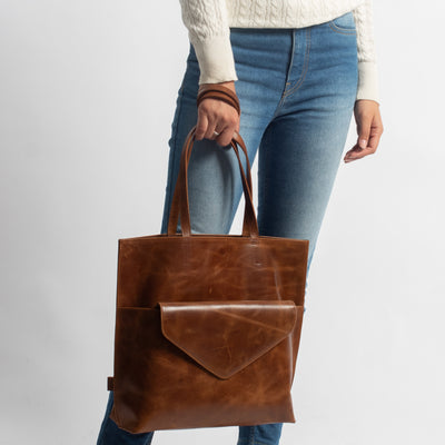 Kamala Tote in Black Leather