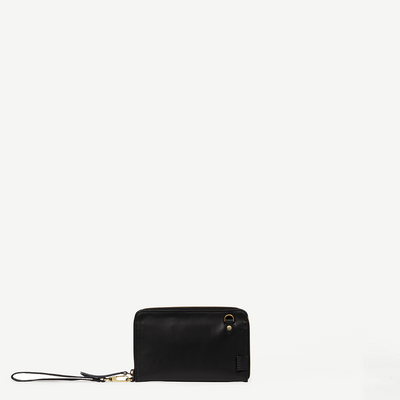 Kosha Black Leather Wallet
