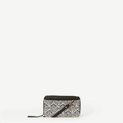 Latika Winter Lotus Wristlet Wallet With Strap