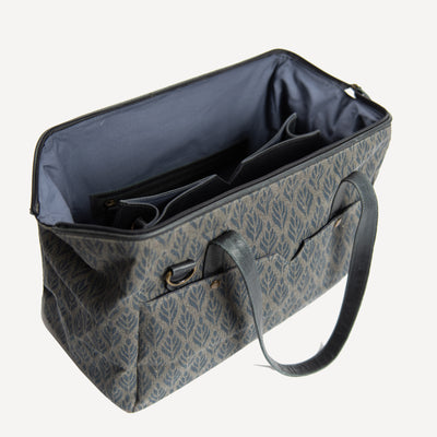 Three-in-one Mini Weekender in Grey Leather