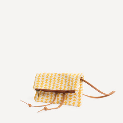 Hip Bag in Yellow Triangle